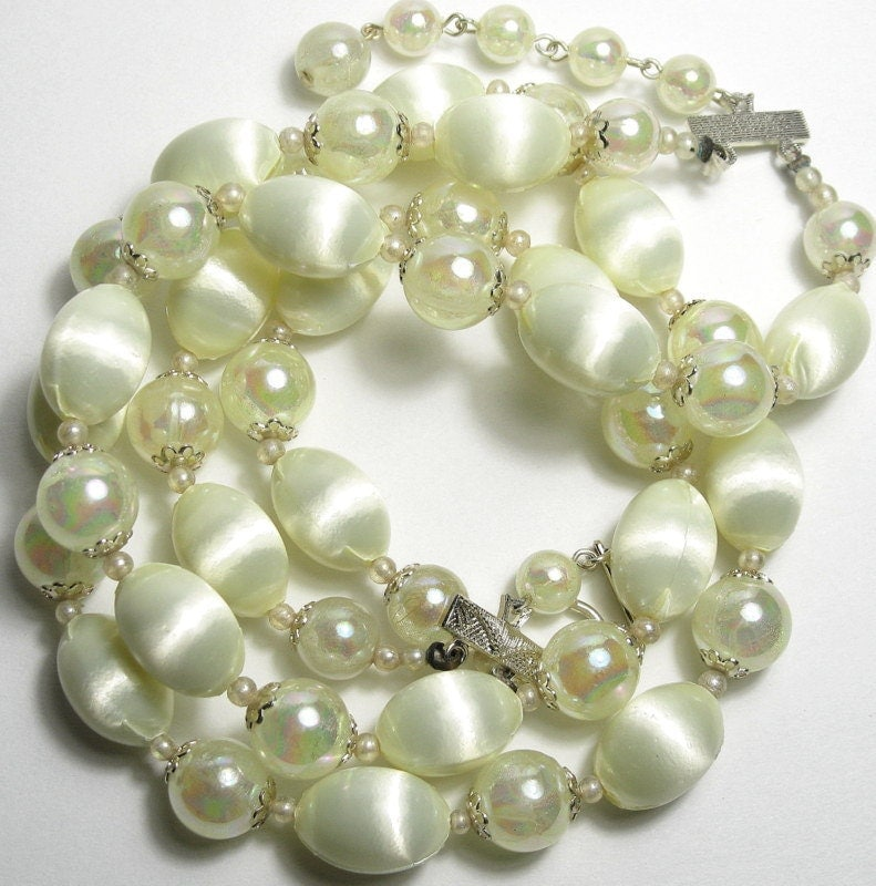 Vintage, 1940s, Beaded, Necklace