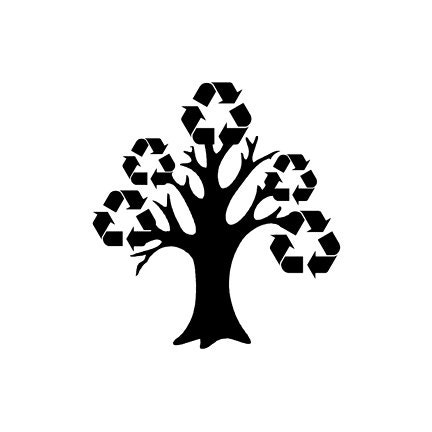 Recycle tree Rubber Stamp - terbearco
