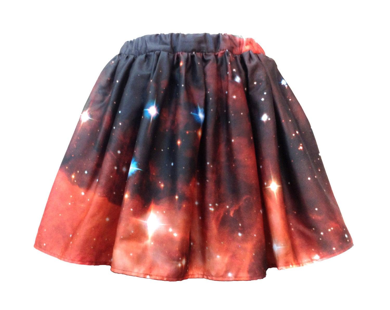 Crimson Galaxy Skirt Short
