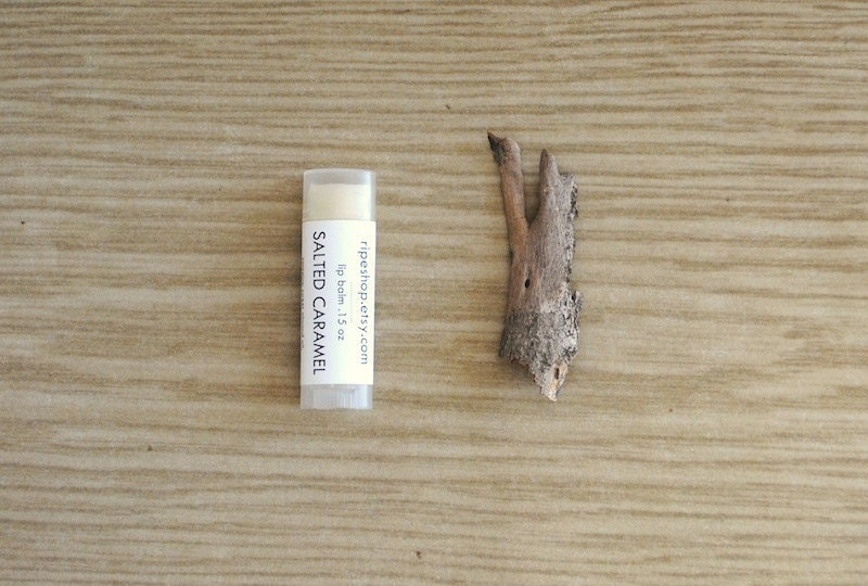 Salted Caramel Lip Balm - Beeswax, Cocoa Butter, Almond Oil - ripeshop