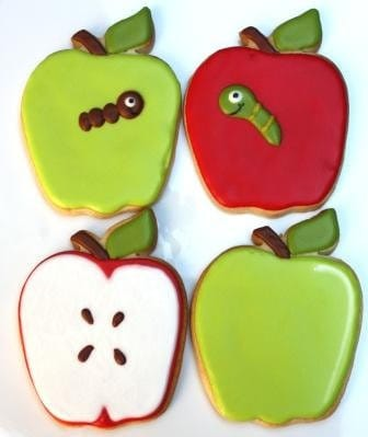 Back to School Apple for Teacher - Cookie favor - WhimsicalOriginalsDB