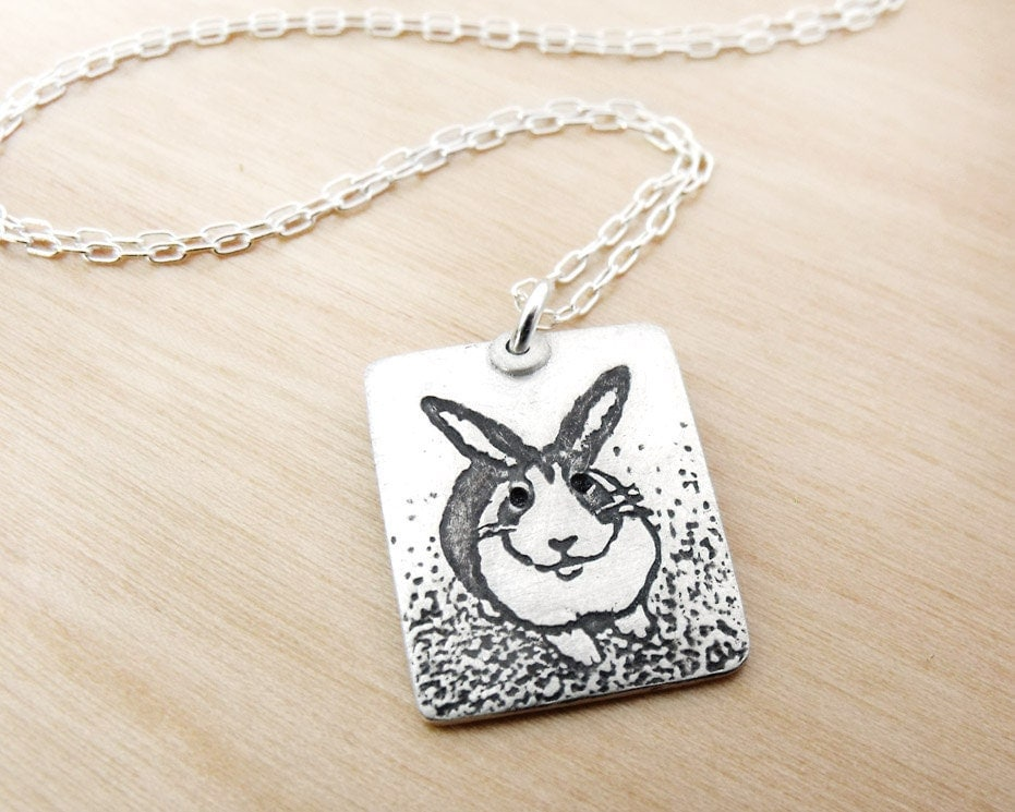Rabbit necklace - silver - dutch bunny