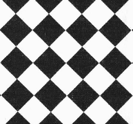 Black and White Table Runner Diamond Check Wedding FREE SHIP