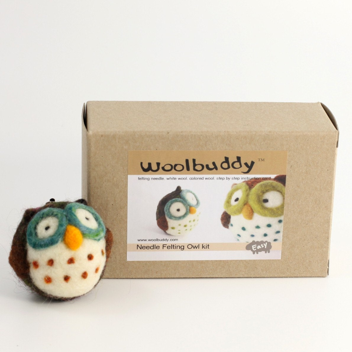 Large Needle felting Owl kit
