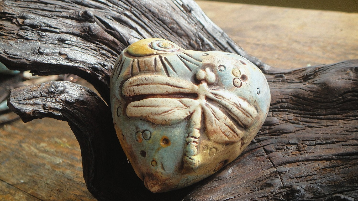 Heart Shaped Dragonfly and Circle Rattle