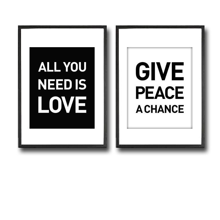 GIVE PEACE A CHANCE and ALL YOU NEED IS LOVE / TWIN SET