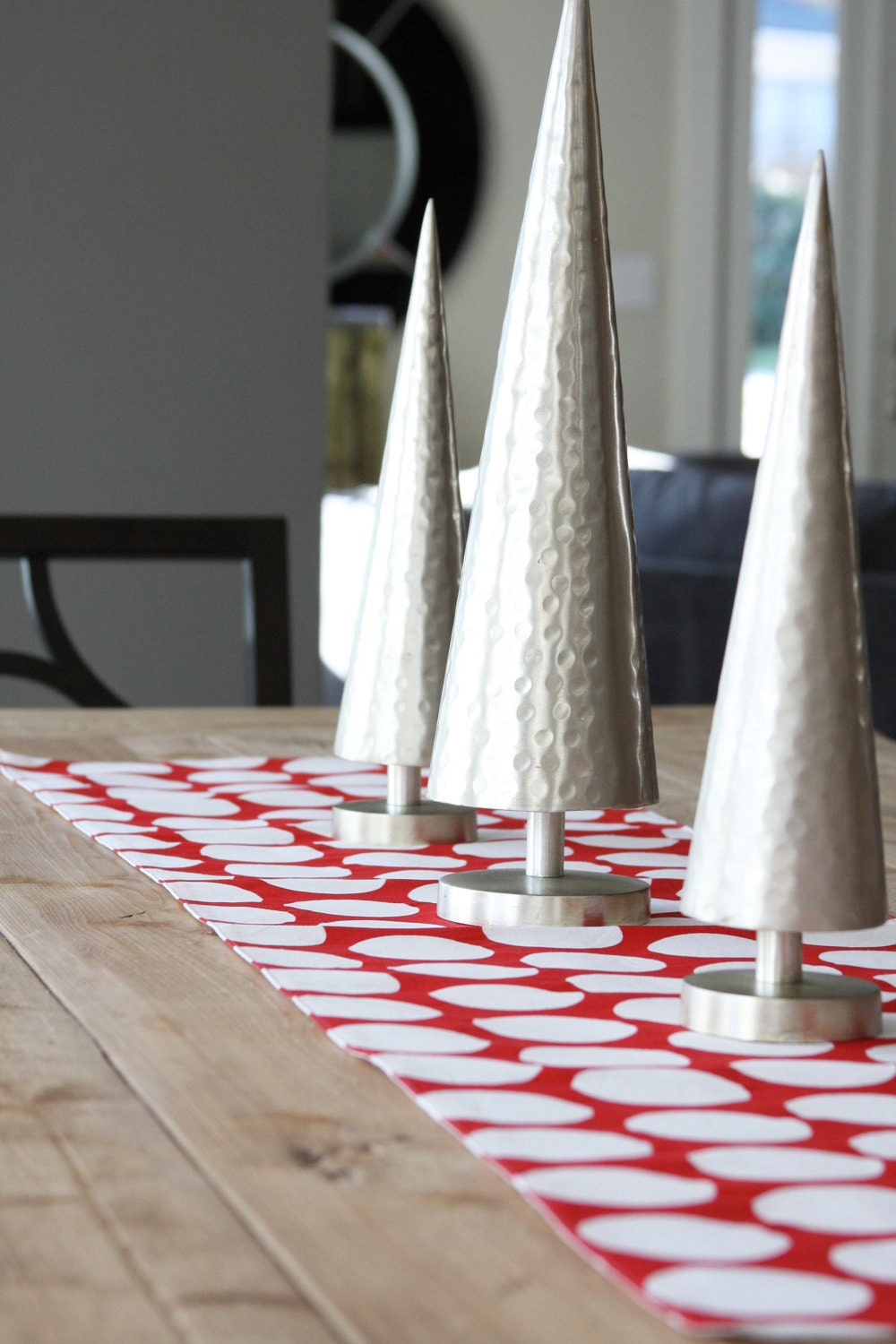 Table Runner: Red with White Dots - toocutecustomcrafts