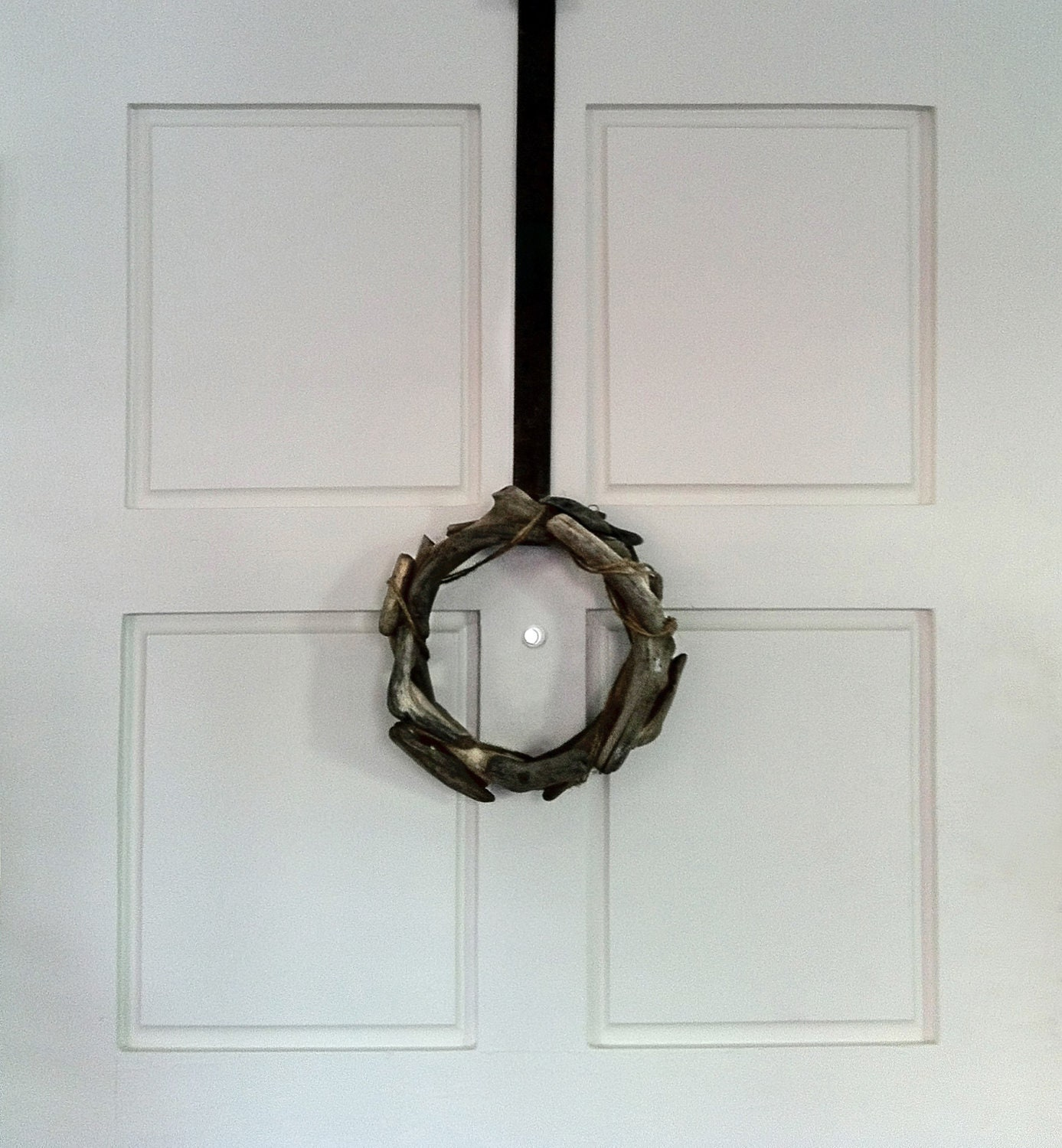 Industrial Salvaged Steel Wreath Hanger - whOreHaus