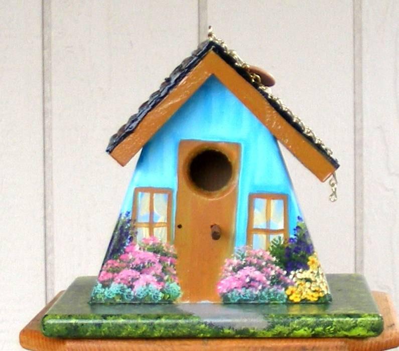Turquoise Bird House