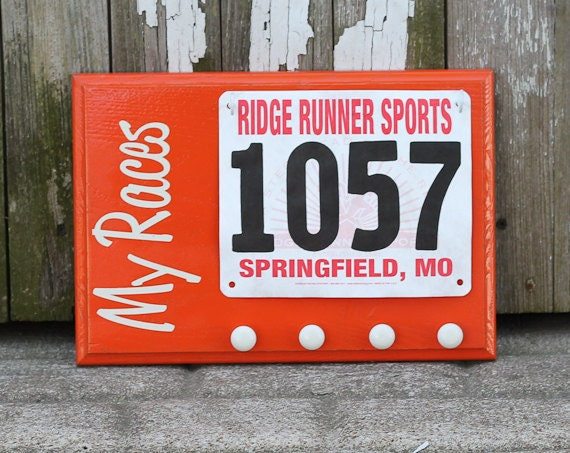 Running Race Bib and Running Medals Holder - My Races