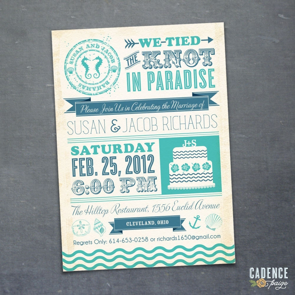 Destination Wedding Invite Wording