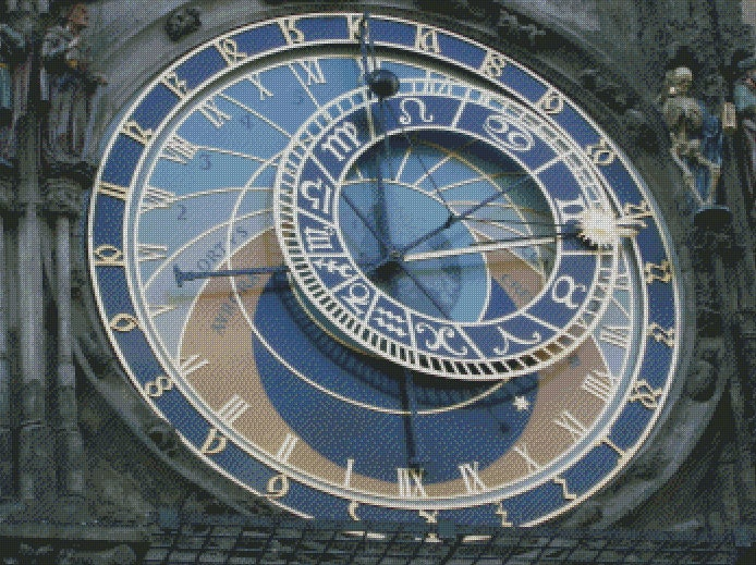 Cross Stitch Pattern: Prague Astro Clock