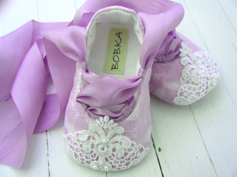 Сказка Принцесса Лаванда Кружева балета обуви для вашего ребенка девушка
