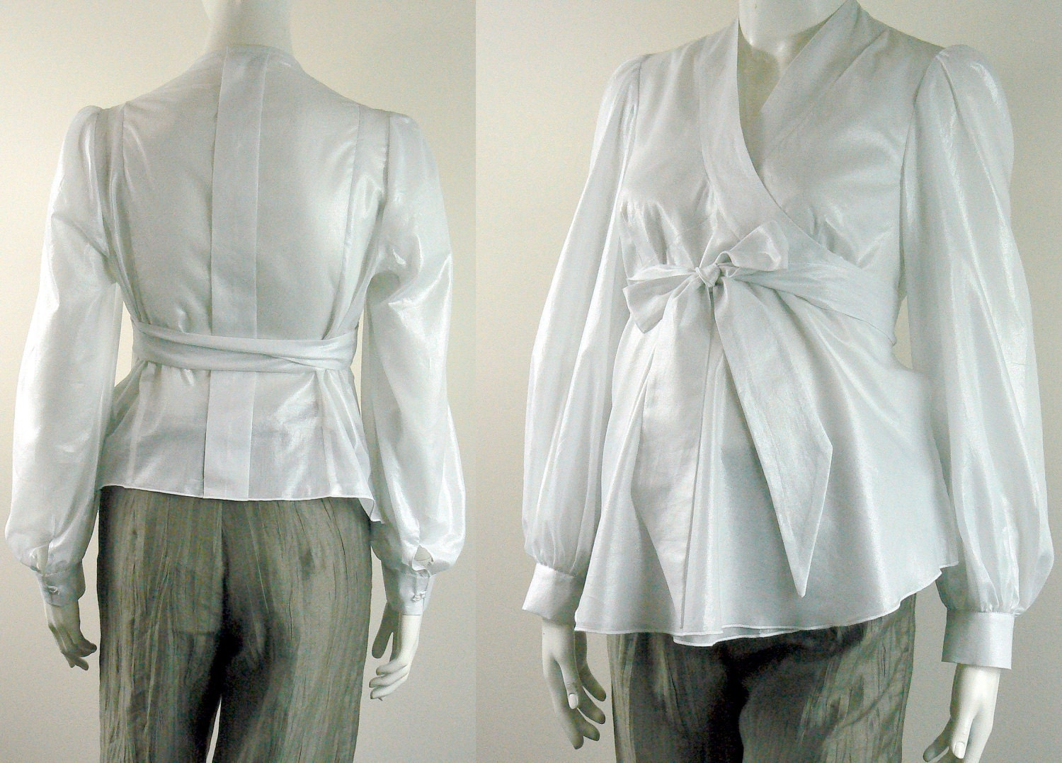 Maternity Blouse from White Cotton