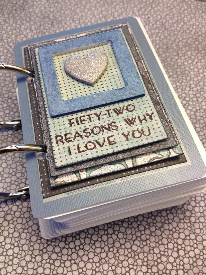 Handmade 52 Reasons Why I love you made with a Deck of Card