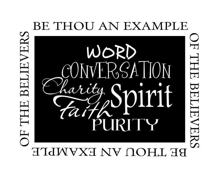 art decal  1 timothy 4 12