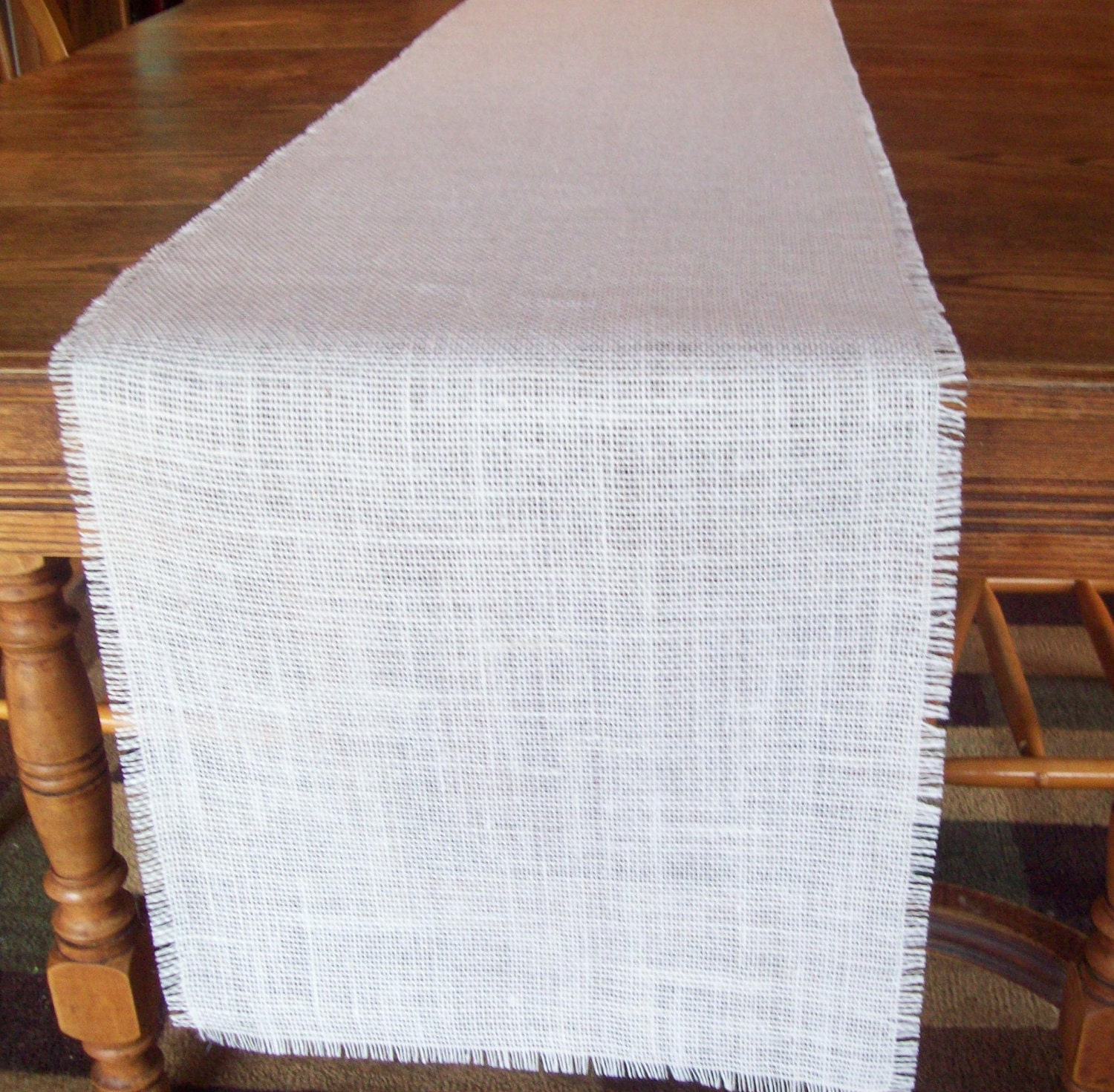 Burlap table runner 15 x 120 rustic and by for 120 inch table runner