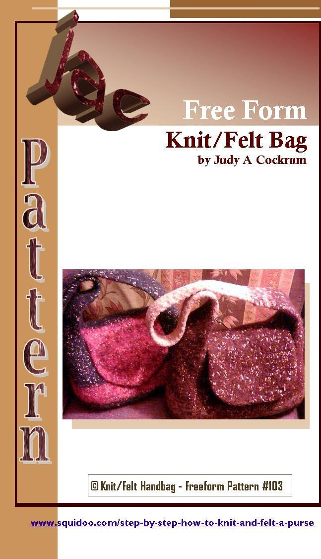 PATTERN for the Glistening Starry Sling Knit Felt Bag