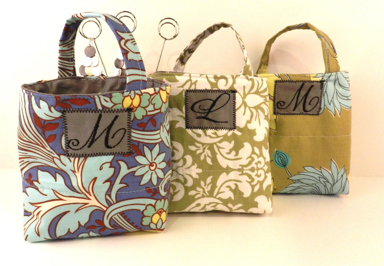 Bridal Party - Mini Tote Gift Bag (set of 10) w/Monogram