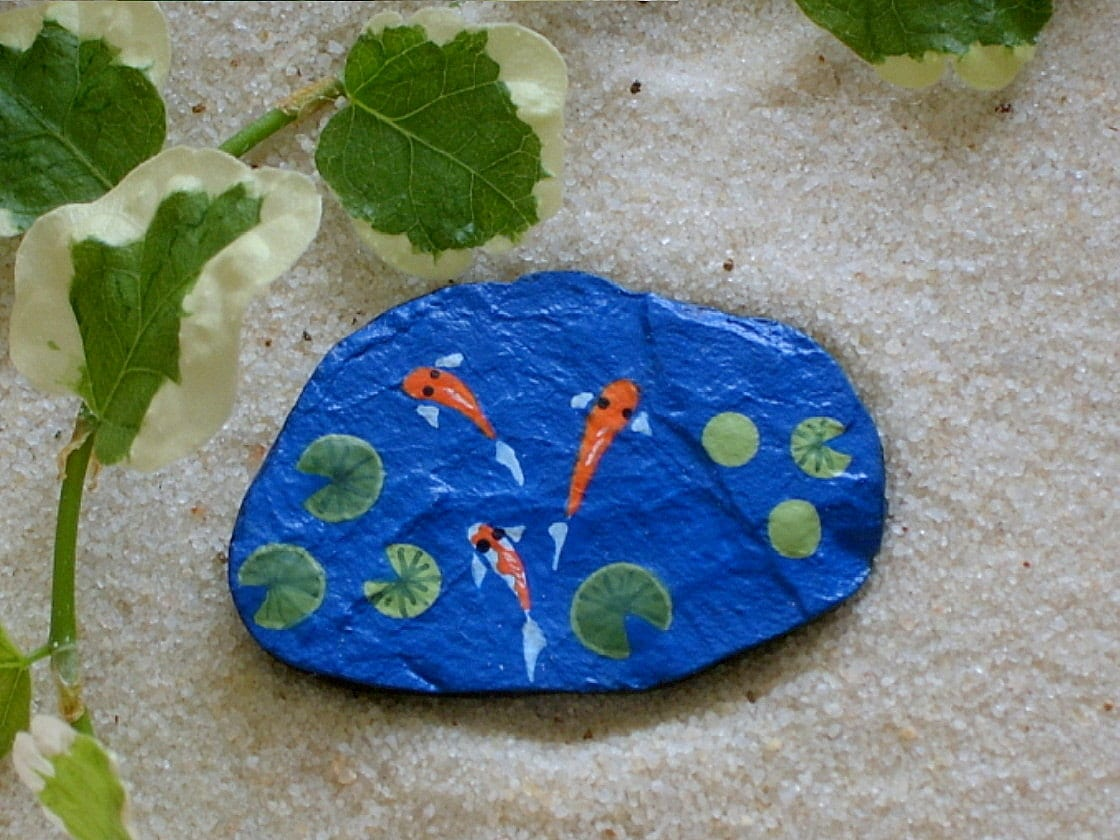 Custom listing for leeann williams koi pond summer by for Fish pond rocks