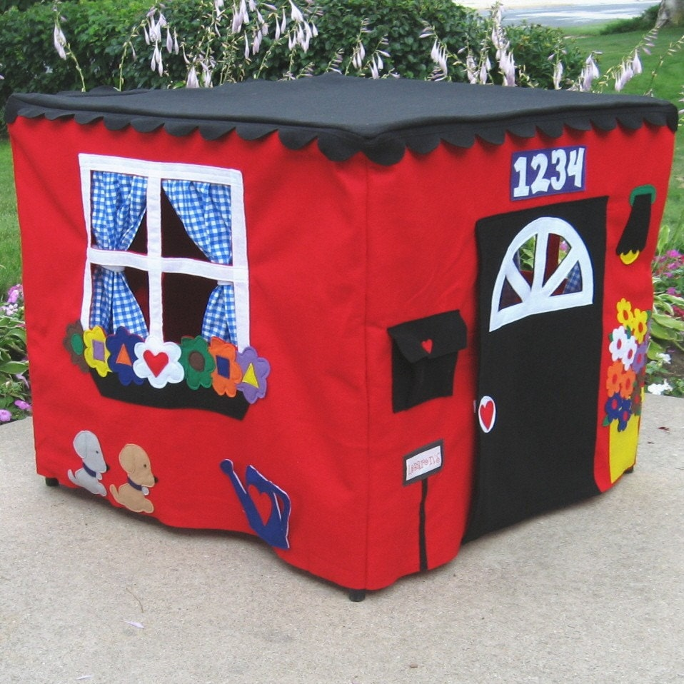 Red Double Delight Playhouse, Fits Card Table, Personalized, Custom Order, As Seen on The Today Show