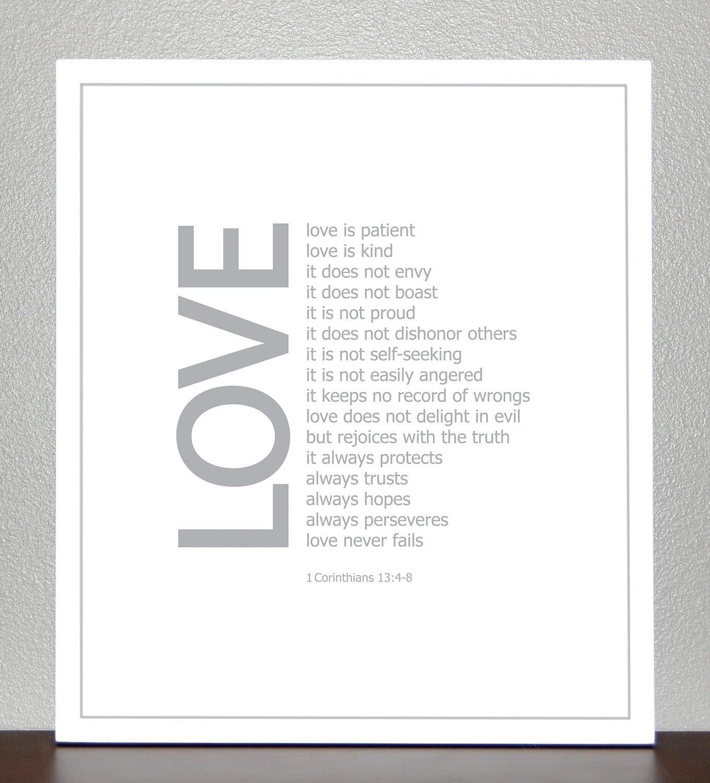 LOVE - bible verse - 1 Corinthians 13:4-8 - CreativeWildChild