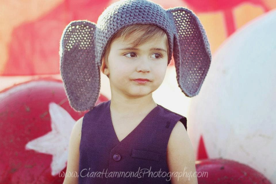 Elephant Beanie crochet pattern includes 4 sizes  PDF 73