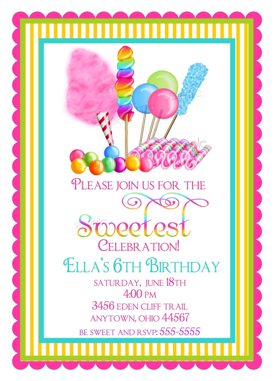 Ideas For Invitations : Candyland invitation ideas party invitations