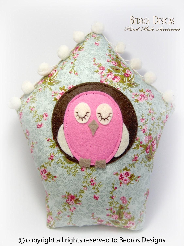Bird House Cushion - Aqua