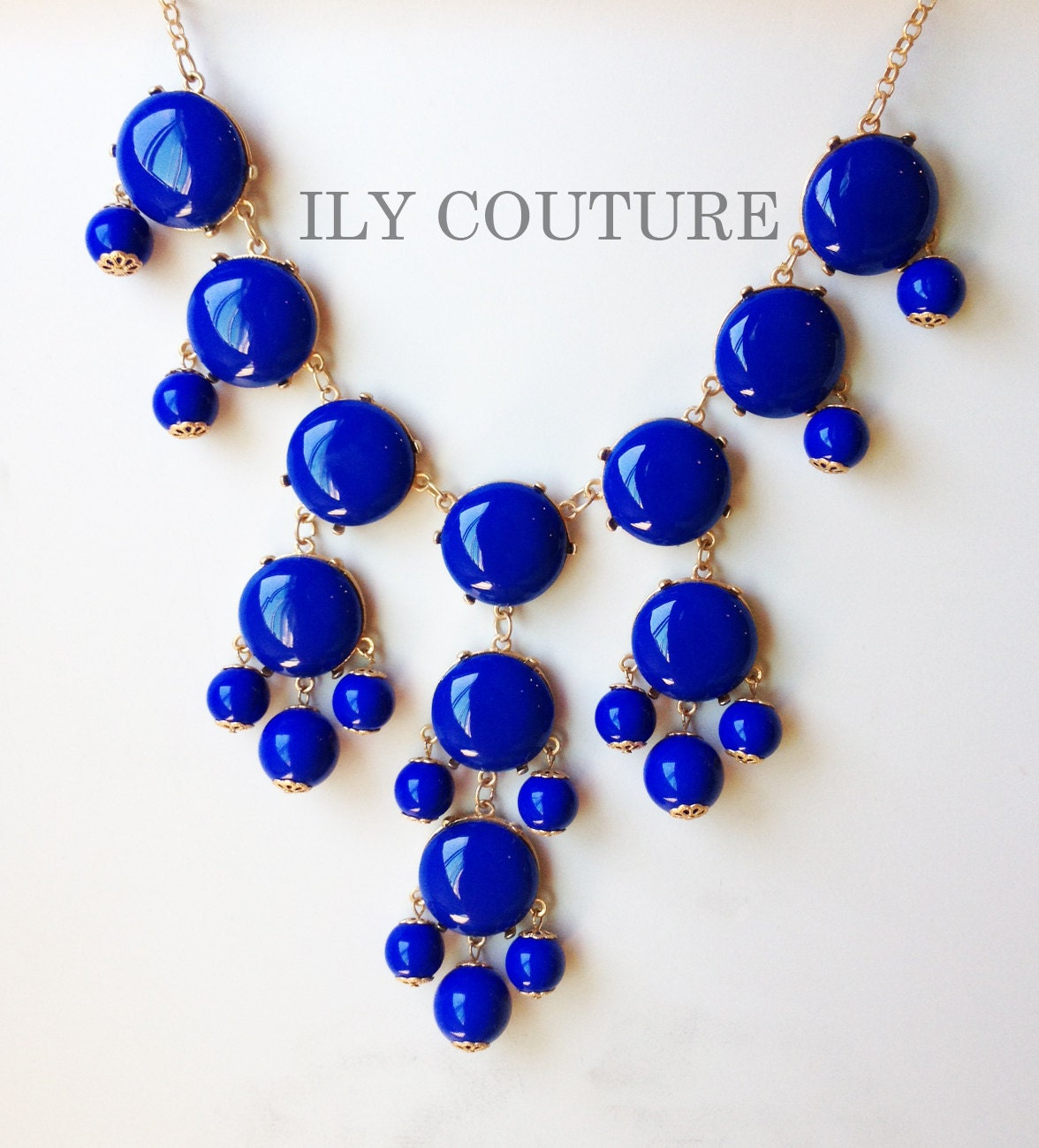 Blue Bubble Statement Necklace - Similar to Jcrew style