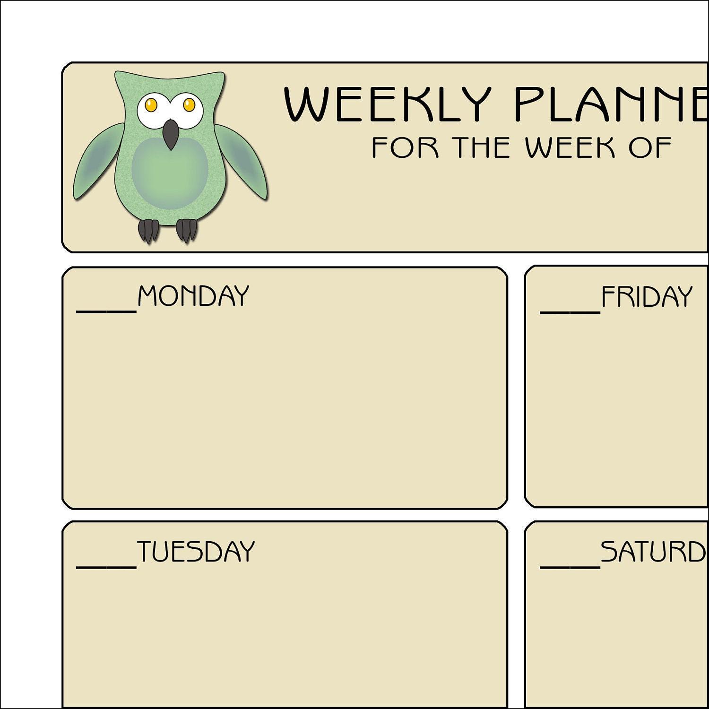 Weekly Planner - Owls - SherHastingsDesigns