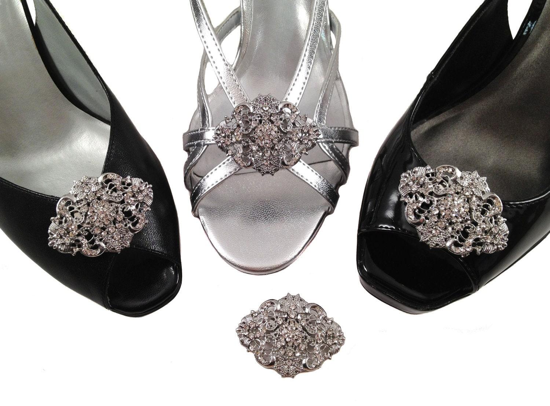 Vintage Styled Rhinestone Shoe Clips