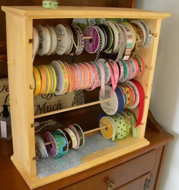 Ribbon rack organizer  100 spools ribbon organizer