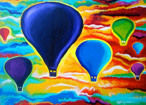 Hot Air Ballons Originall Painting 18x24