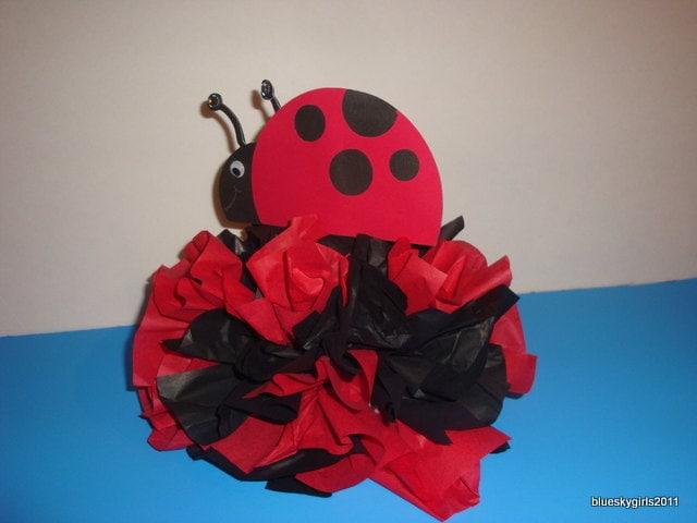 Ladybug Centerpiece Ideas : Ladybug baby shower table ideas photograph lady bug decora