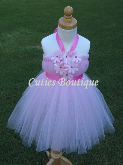 Pink Flower Girl Dress All Sizes 3 6 9 12 18 24 Months 2T
