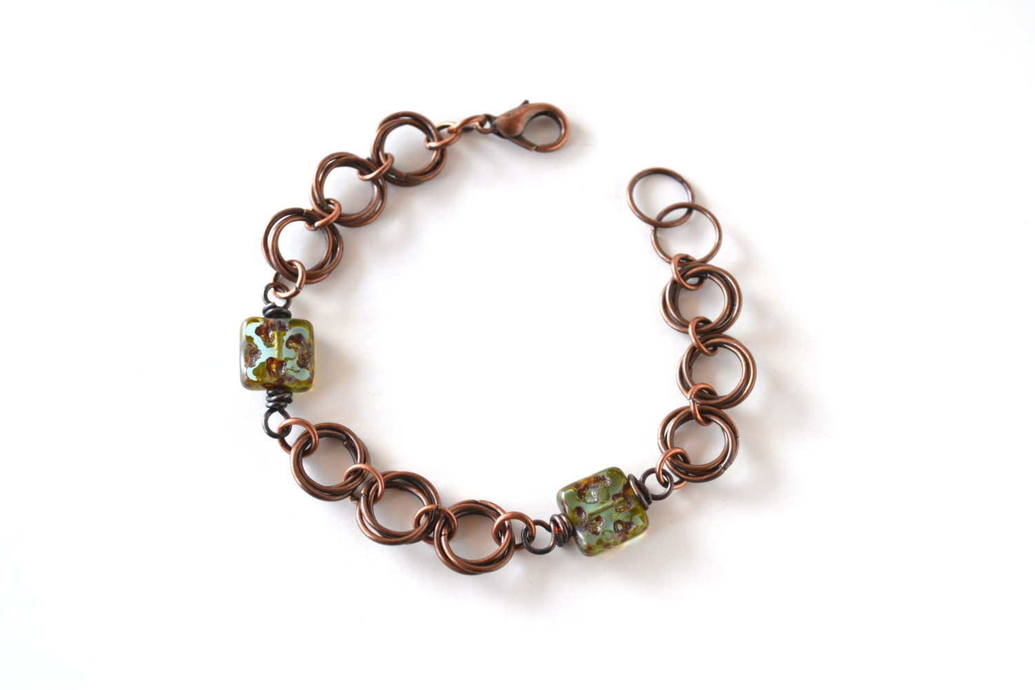 Antique Chainmaille Bracelet - - ArtIncendi
