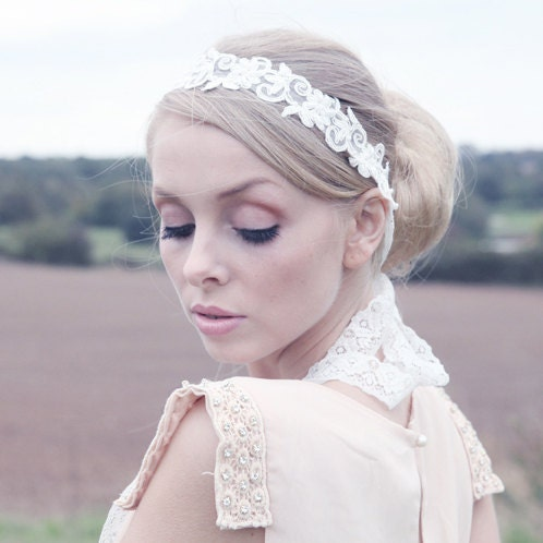 bridal headband accessory wedding headband lace bridal headband vintage