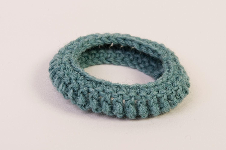 """Bracelet """"bangle"""" / vert d'eau"""