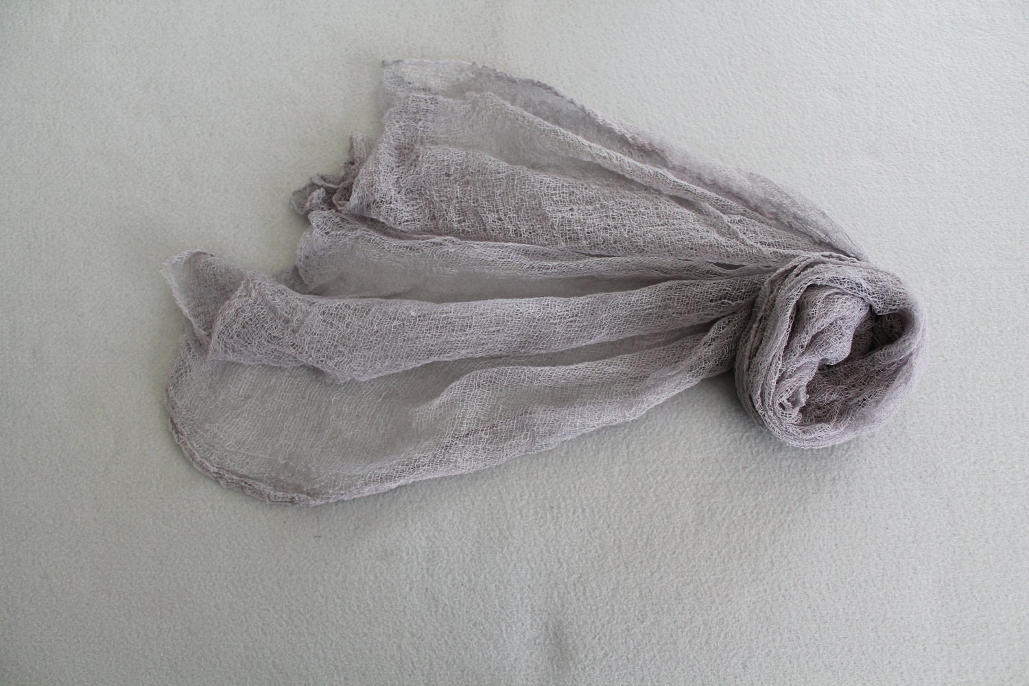 Hand Dyed Cheesecloth Wrap Gray Great Photo Prop on SALE - cuteittybitty