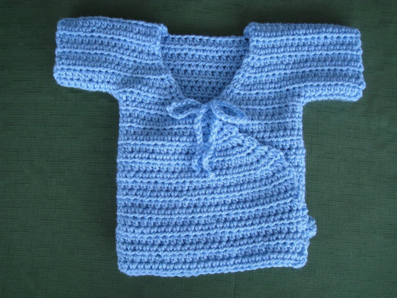 CRSisters: PDF Crochet Pattern for Baby Kimono Sweater