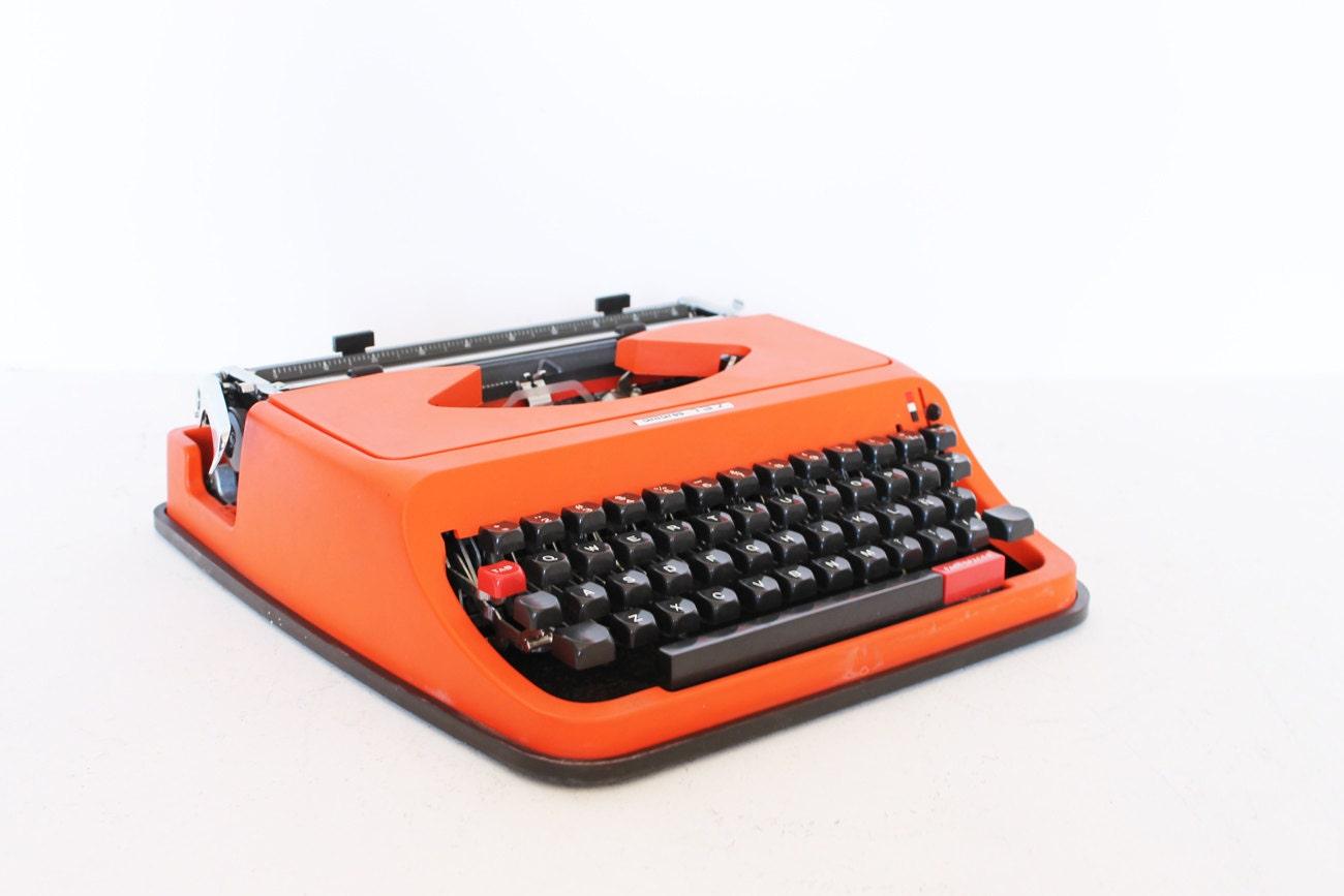 Vintage manual orange Antares Typewriter