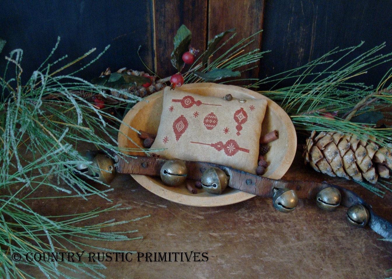 Four Flakey Fellows Primitive Snowman Ornament Pattern