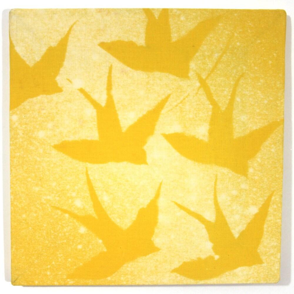 Free as a bird Wall Art Yellow