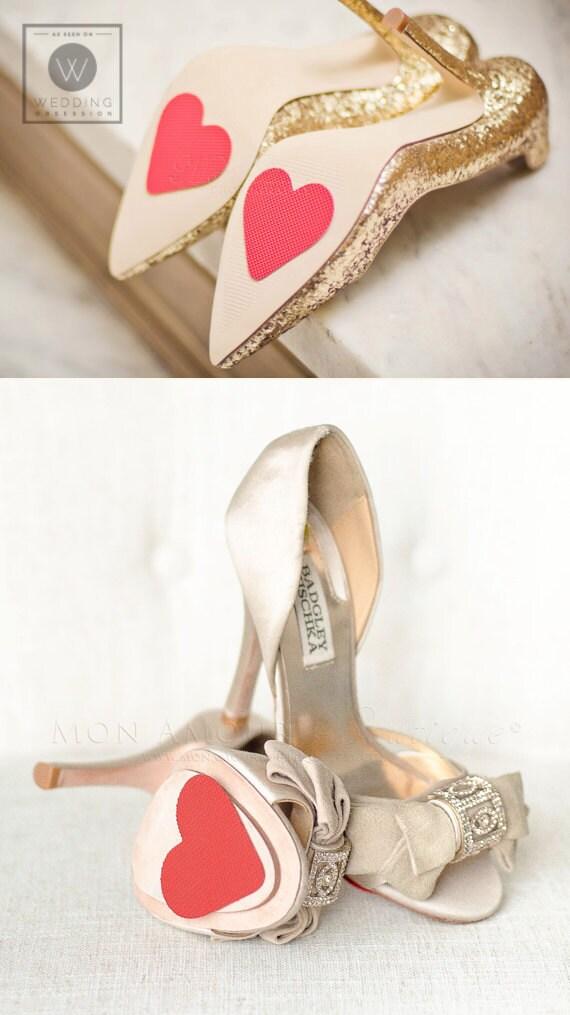 heart shoe petals, wedding shoe grips