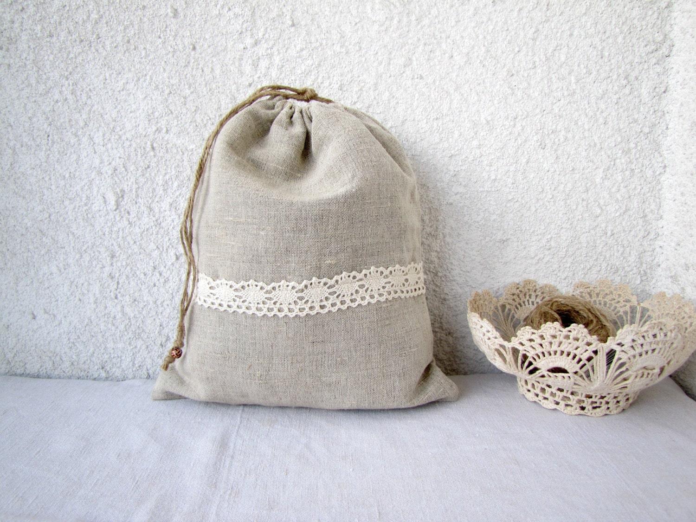 Постельное белье и кружева Drawstring сумки, подарочные сумки, многоразовые, экологически чистом