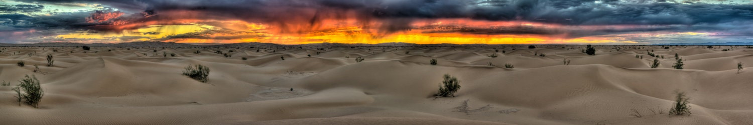 Sunset through the Rain over the Dunes - TyCookPhotography