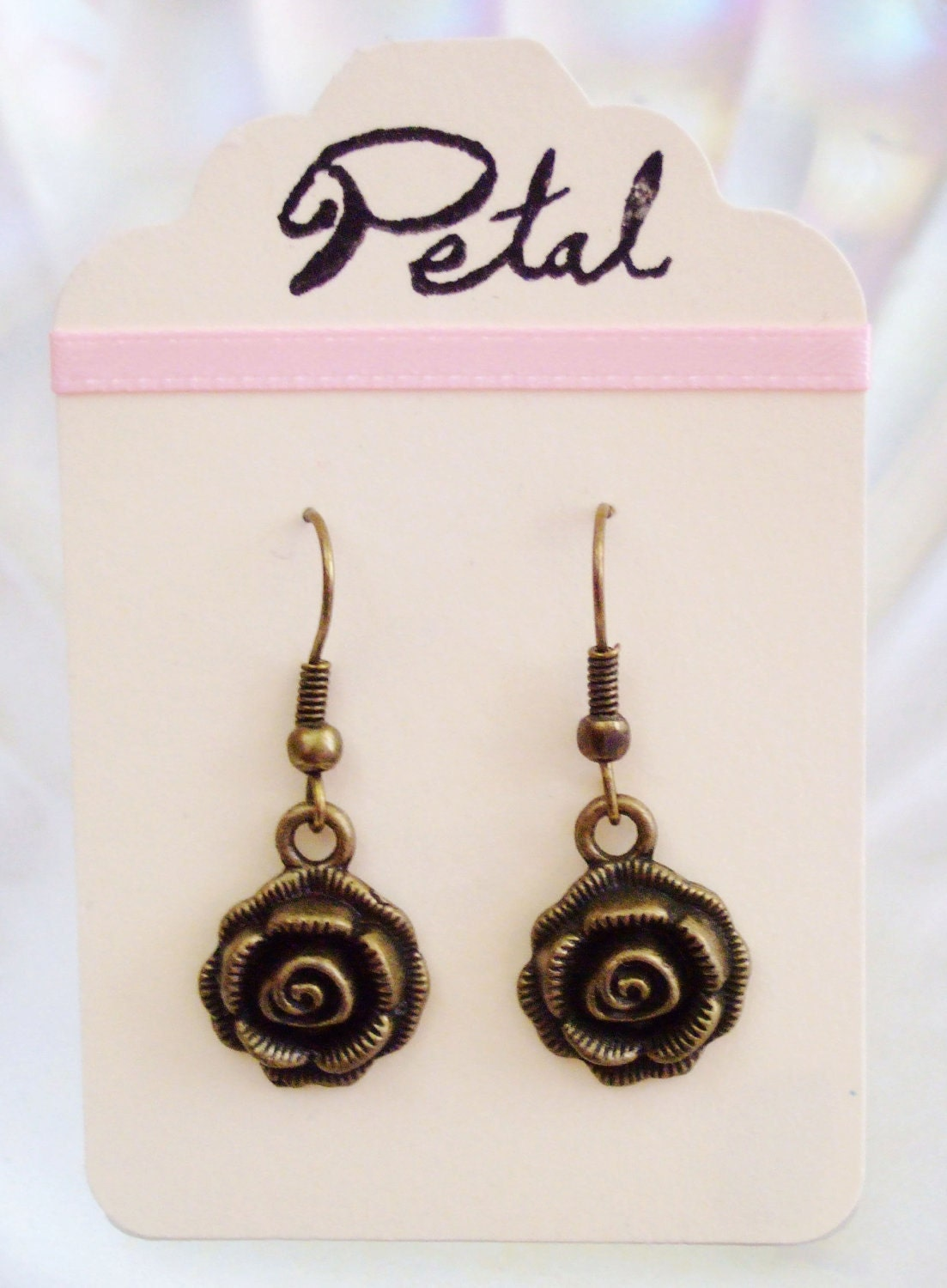 Rose bronze earrings (POC03)