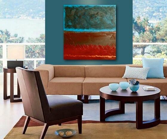 APACHE original abstract modern painting - gallery fine art - contemporary interior design - ooak home wall decor