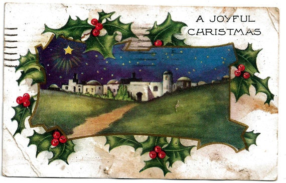 Christmas Postcard From 1925